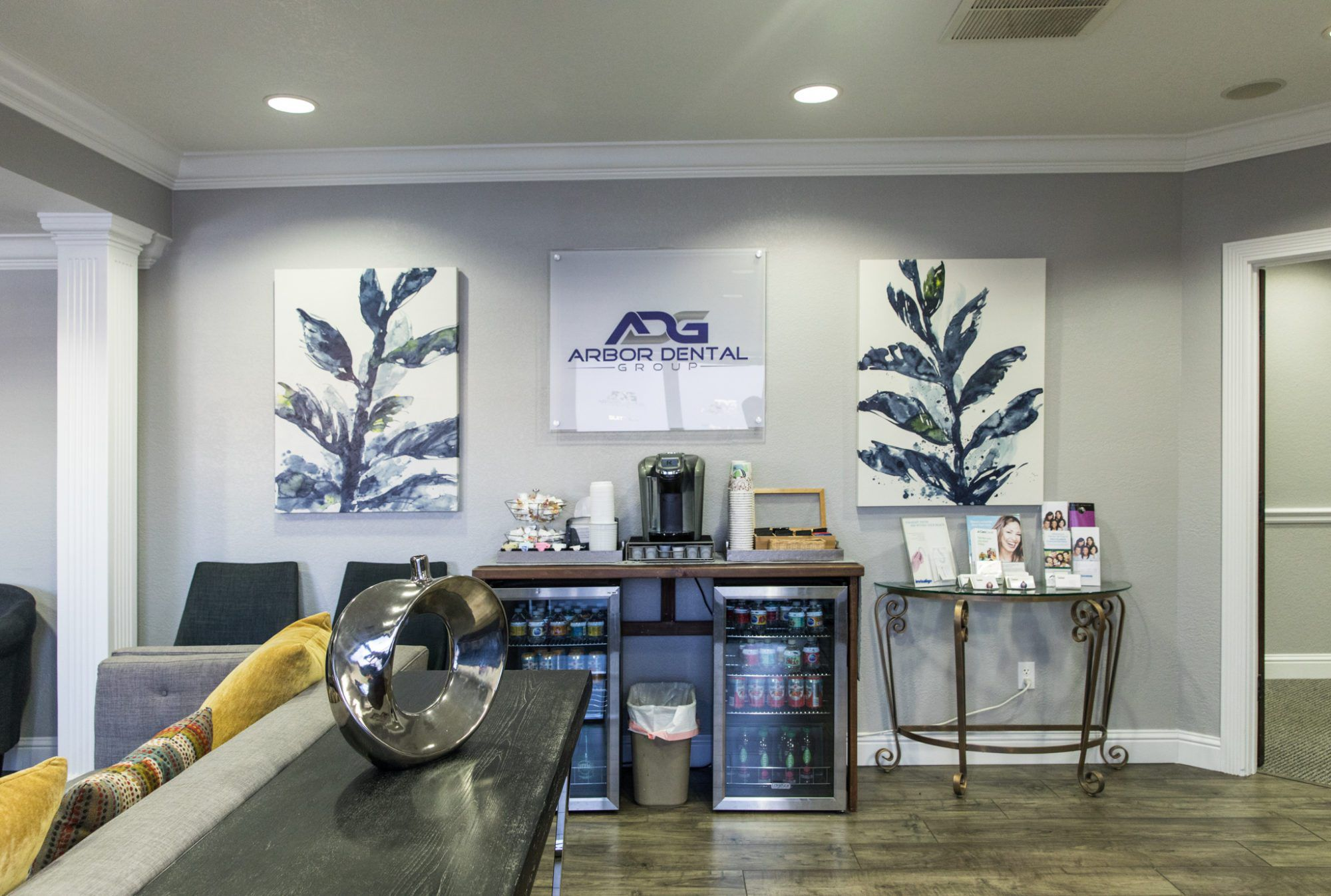Refreshment center at Arbor Dental Group