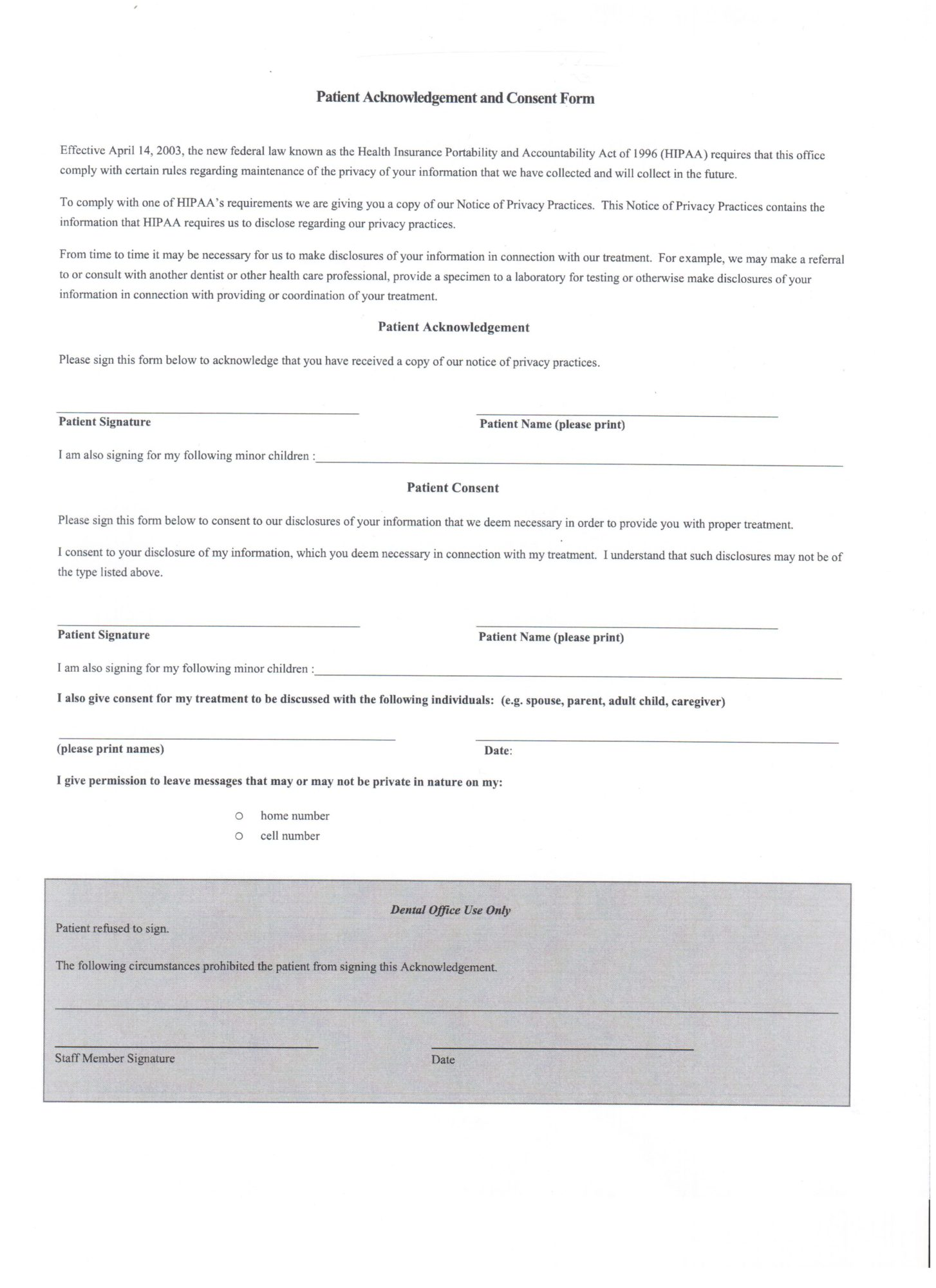 Patient forms cosmetic dentist in san jose ca arbor dental group patient consent form altavistaventures Gallery